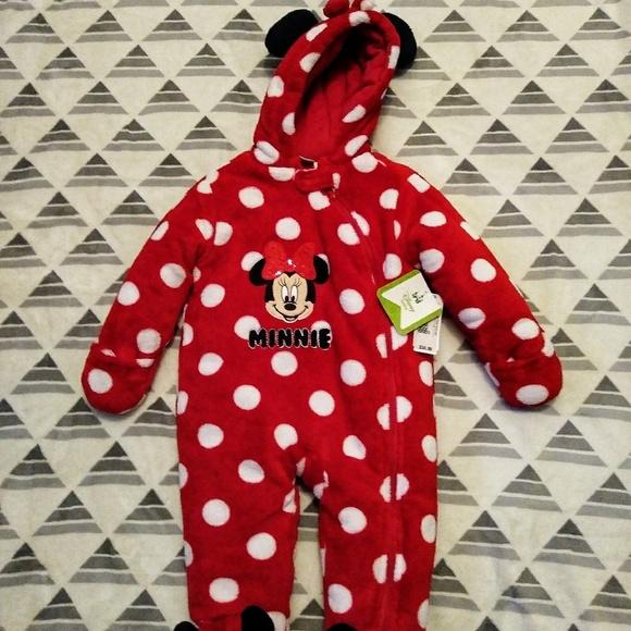 fc055b27e Disney Baby Jackets & Coats | Minnie Mouse Infant Snowsuit Size 9m ...